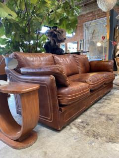 Mid Century Modern Italian Leather Sofa 1960s - 1253534