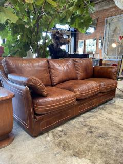 Mid Century Modern Italian Leather Sofa 1960s - 1253536