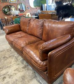Mid Century Modern Italian Leather Sofa 1960s - 1253539