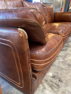 Mid Century Modern Italian Leather Sofa 1960s - 1253540