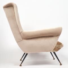 Mid Century Modern Italian Striped Velvet Armchairs - 756226