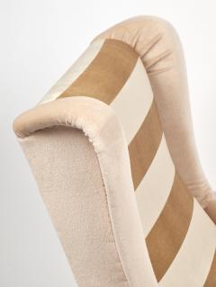 Mid Century Modern Italian Striped Velvet Armchairs - 756233