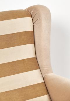 Mid Century Modern Italian Striped Velvet Armchairs - 756235