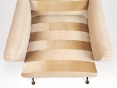 Mid Century Modern Italian Striped Velvet Armchairs - 756236
