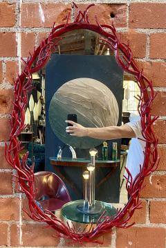 Mid Century Modern Italian Wall Mirror 1970 - 2039563