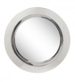 Mid Century Modern Large Round Porthole Wall Mirror in Chrome by Curtis Jere - 1738768