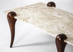 Mid Century Modern Marble Top Rosewood Center Table Brazil 1950s - 1722471