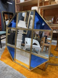 Mid Century Modern Octagonal Oversize Wall Mirror Italy 1970 - 2009965