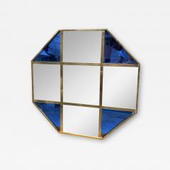 Mid Century Modern Octagonal Oversize Wall Mirror Italy 1970 - 2011153