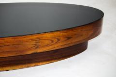 Mid Century Modern Opaline Glass Top Oval Center Table Brazil 1960s - 1627762