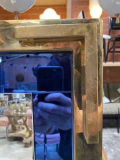Mid Century Modern Oversize Squre Italian Mirror Italy 1970 - 2002755