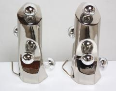 Mid Century Modern Polished Chrome Free Form Table Lamps - 398267