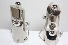 Mid Century Modern Polished Chrome Free Form Table Lamps - 398296