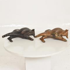 Mid Century Modern Sculptural Iron Cast Bulls Bookends Japan - 1227868
