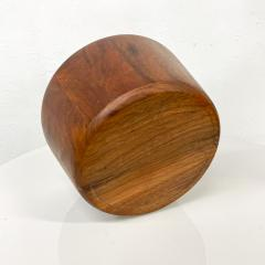 Mid Century Modern Sculptural Staved Solid Walnut Wood Bowl  - 1945093