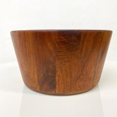 Mid Century Modern Sculptural Staved Solid Walnut Wood Bowl  - 1945094