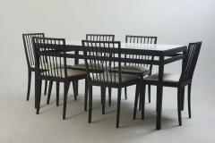 Mid Century Modern Set of Dining Table and 6 Chairs by M veis Flama Brazil - 1212704