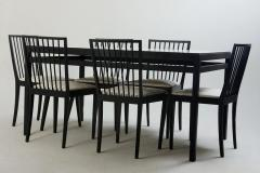 Mid Century Modern Set of Dining Table and 6 Chairs by M veis Flama Brazil - 1212705
