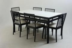 Mid Century Modern Set of Dining Table and 6 Chairs by M veis Flama Brazil - 1212710