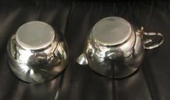 Mid Century Modern Silverplate Sugar and Creamer in Rack Holder EPNS - 1178732