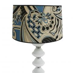 Mid Century Modern Single Murano and Metal Italian Table Lamp - 1549998