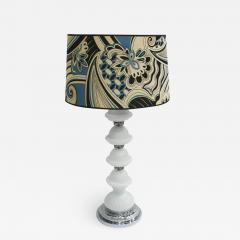 Mid Century Modern Single Murano and Metal Italian Table Lamp - 1551257