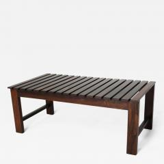 Mid Century Modern Small Rosewood Slatted Bench Brazil 1960s - 1685050