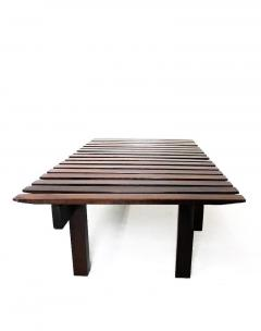 Mid Century Modern Small Rosewood Slatted Bench Brazil 1960s - 1683632