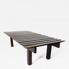 Mid Century Modern Small Rosewood Slatted Bench Brazil 1960s - 1685051
