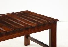 Mid Century Modern Small Slatted Bench in Wood Brazil 1960s - 2045883