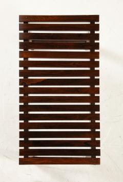 Mid Century Modern Small Slatted Bench in Wood Brazil 1960s - 2045888