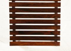 Mid Century Modern Small Slatted Bench in Wood Brazil 1960s - 2045892