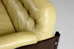 Mid Century Modern Sofa in Hardwood and Leather by Lineart M veis Brazil 1960s - 1212747