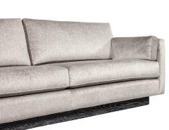 Mid Century Modern Sofa with Ceruse Oak Base - 1835808