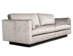 Mid Century Modern Sofa with Ceruse Oak Base - 1835809