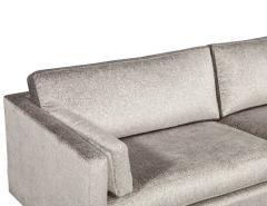 Mid Century Modern Sofa with Ceruse Oak Base - 1835811