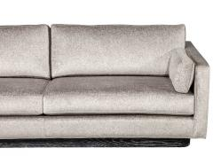 Mid Century Modern Sofa with Ceruse Oak Base - 1835812