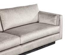Mid Century Modern Sofa with Ceruse Oak Base - 1835813
