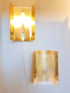 Mid Century Modern Style Dlightus Bespoke Brass and Frosted Glass Sconces - 547871