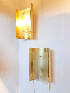 Mid Century Modern Style Dlightus Bespoke Brass and Frosted Glass Sconces - 547872