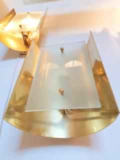 Mid Century Modern Style Dlightus Bespoke Brass and Frosted Glass Sconces - 547879