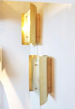 Mid Century Modern Style Dlightus Bespoke Brass and Frosted Glass Sconces - 547881