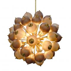 Mid Century Modern Style Mod Sputnik Brass and Glass Italian Ceiling Lamp - 1180721