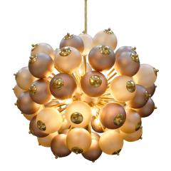Mid Century Modern Style Mod Sputnik Brass and Glass Italian Ceiling Lamp - 1180722