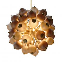 Mid Century Modern Style Mod Sputnik Brass and Glass Italian Ceiling Lamp - 1180723