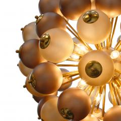 Mid Century Modern Style Mod Sputnik Brass and Glass Italian Ceiling Lamp - 1180724