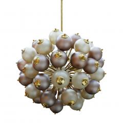 Mid Century Modern Style Mod Sputnik Brass and Glass Italian Ceiling Lamp - 1180726