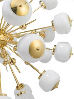 Mid Century Modern Style Sputnik Chandelier with Murano Glass Orbs - 1487798