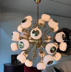 Mid Century Modern Style Sputnik Chandelier with Murano Glass Orbs - 1487799