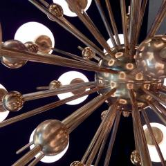 Mid Century Modern Style Sputnik Chandelier with Murano Glass Orbs - 1487800